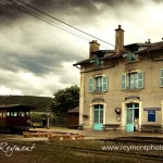 Bligny-sur-Ouch's blue-shuttered train station